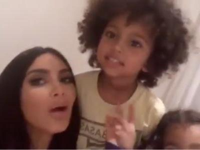 This Video Of Kim Kardashian's Kids Saying How Much They Love Her Is Cute