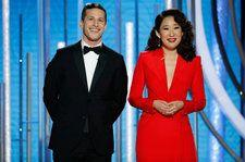 Andy Samberg & Sandra Oh Celebrate Hollywood's Diversity During 2019 Golden Globes Monologue