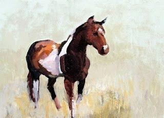 "Equine Oil Painting "" Portrait of a Paint"" by Colorado Artist Susan Fowler"