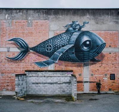 Melancholy Creatures Explore Imagined Worlds in Nostalgic Murals by Hayley Welsh