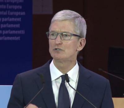 """Tim Cook calls for strong US privacy law, rips """"data-industrial complex"""""""
