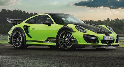 TechArt's New 911 Turbo GTstreet R With Up To 720HP Is A Mean Green Machine