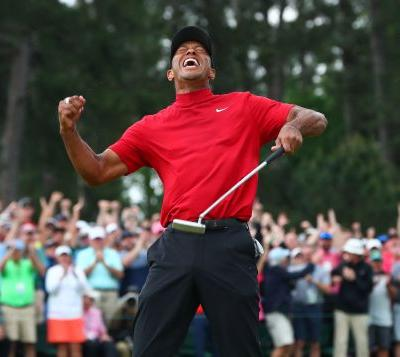 Opinion: In Tiger Woods' win, CBS coverages masters hyperbole and sappiness
