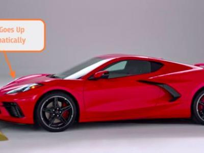 The 2020 Corvette Uses GPS and Hydraulics to Automatically Lift the Car Over Speed Bumps