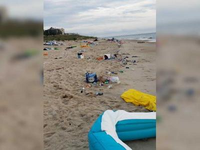 'It's not fair': They partied on the beach, then left 10 tons of trash