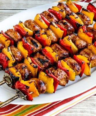 Grilled Sausage and Peppers