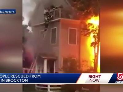 98-year-old and 95-year-old rescued from 3rd-floor during raging fire