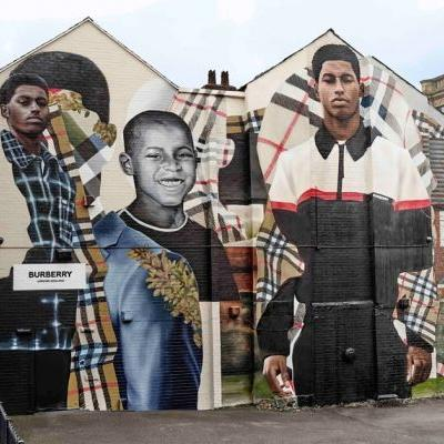 Burberry Unveils New Marcus Rashford Mural In Manchester
