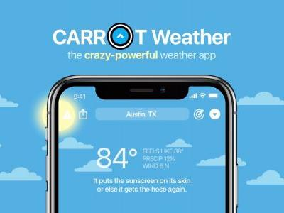 CARROT Weather update sees redesigned weather maps with 12 layers, storm tracking, more