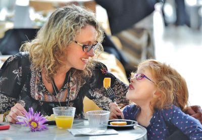 Families celebrate Mother's Day with art and mimosas at the Akron Art Museum