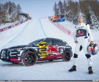 Video: Audi e-tron quattro climbs 85% grade Mausefalle at Kitzbühel