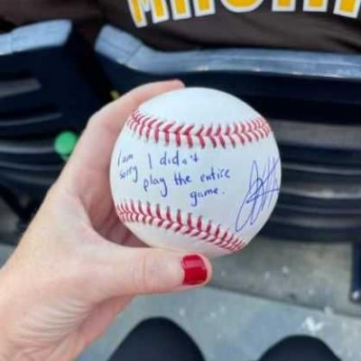 Young Reds fan upset after Votto ejected from game, gets signed baseball from him