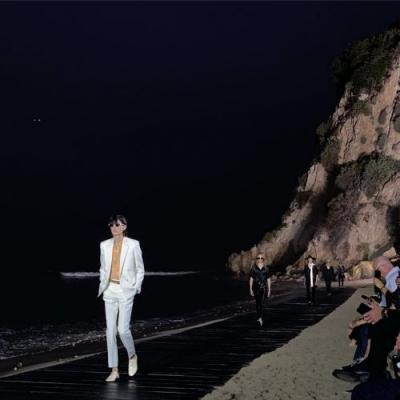 Anthony Vaccarello takes Saint Laurent menswear to the beach for SS20
