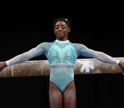 Simone Biles' Teal Leotard Honored The Other Survivors Of Larry Nassar's Abuse