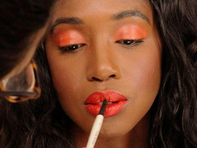 The Easiest Way To Wear This Tricky Color On Your Eyes & Lips