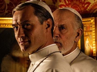 The New Pope Photo Featuring Jude Law & John Malkovich Released