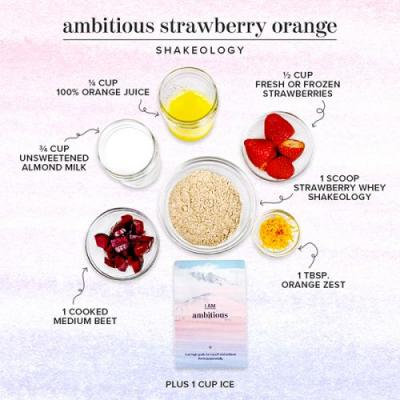 Ambitious Strawberry Orange Shakeology