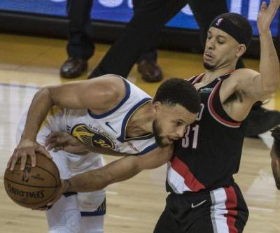 Stephen Curry, Klay Thompson shoot Golden State Warriors past Portland Trail Blazers