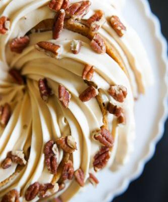 Carrot Bundt Cake with Salted Caramel Cream Cheese Frosting