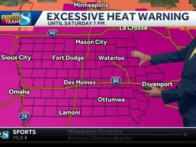 Excessive heat warning for all of Iowa
