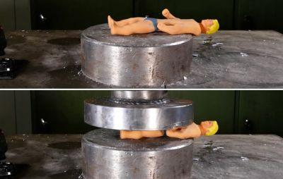 Watch This Beloved Childhood Toy Get Crushed Underneath a Hydraulic Press