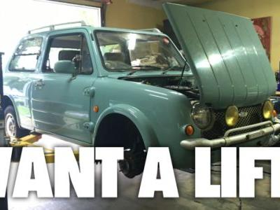 I Replaced the Struts on My Nissan Pao and Got Spoiled By a Lift and Air Tools