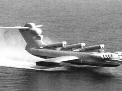 "The Soviet MD-160 ""Caspian Sea Monster"" ground effect vehicle aquatic plane/boat"