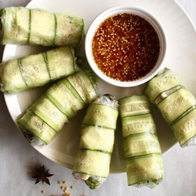 Spicy Chicken Summer Rolls