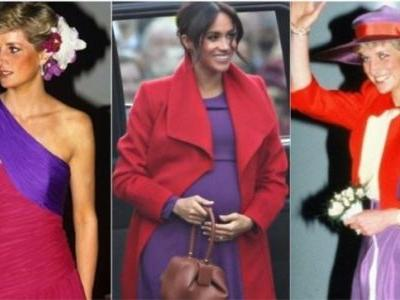 Pregnant Meghan Markle pays a tribute to Princess Diana's fashion and we cannot get enough