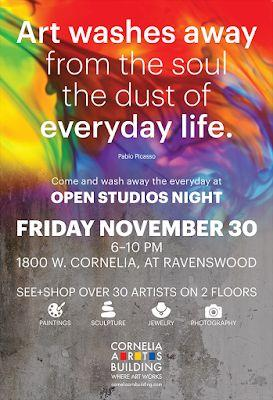 Cornelia Arts Building Holiday Open Studios - Friday, Nov. 30, 6 - 10 pm