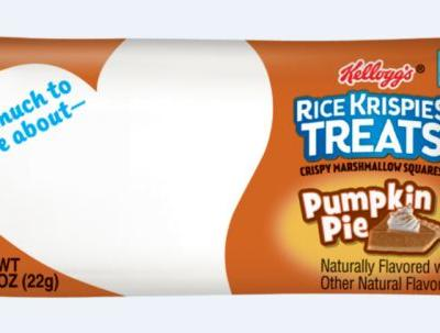 These Pumpkin Pie-Flavored Rice Krispie Treats For Fall 2019 Are A Taste Of The Season