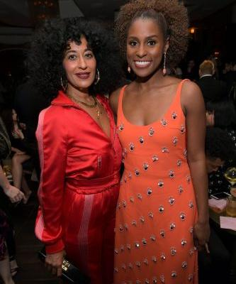 Issa Rae and Tracee Ellis Ross Had an Amazing and All Too Real Mid-Flight Hair Moment