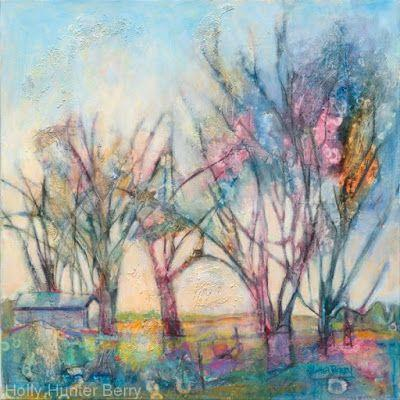 """Colorful Contemporary Landscape, """"Shelter in Plain Sight"""" by Passionate Purposeful Painter Holly Hunter Berry"""