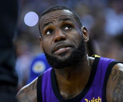 The Lakers and world do a big LeBron James exhale