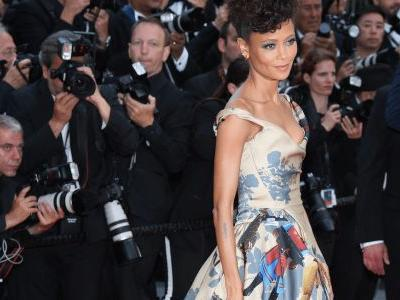 Thandie Newton Wore a Gown Covered in Black 'Star Wars' Characters at Cannes