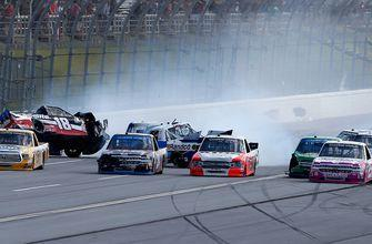 Timothy Peters wins as the field wrecks at Talladega | 2018 TRUCK SERIES | FOX NASCAR