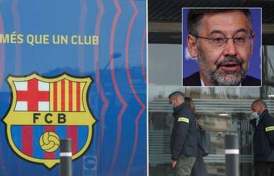 Police 'arrest former Barcelona president Bartomeu and two club bosses' as staff see football giants' offices raided by officers