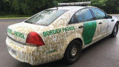 Farmer accused of spraying manure on border patrol cruiser