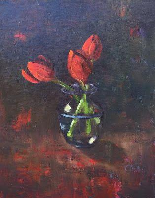 """Contemporary Realistic Floral, """"Tulips 3,"""" by Amy Whitehouse"""