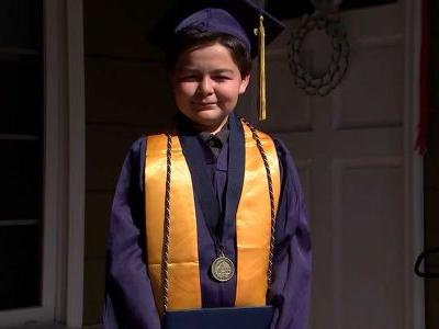 A 13-year-old just graduated with 4 associate's degrees