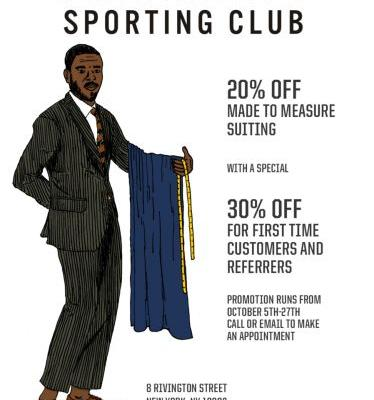 Freemans' Made to Measure Suiting Program Starts October 27th