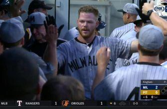 WATCH: Brewers pitcher Woodruff hits first career homer