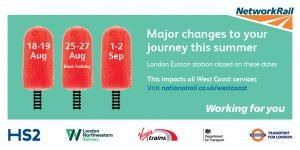 Do Not Travel On West Coast Main Line This weekend