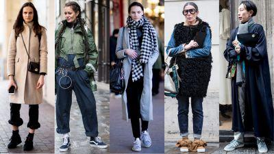 Sneakers Helped Showgoers Ease Into Day 1 of Paris Fashion Week