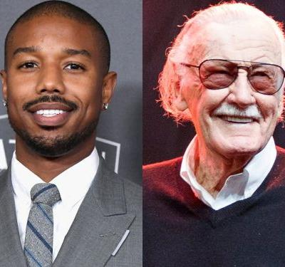 'Black Panther' star Michael B. Jordan fondly remembers when Stan Lee visited the set: 'The room gets quiet'