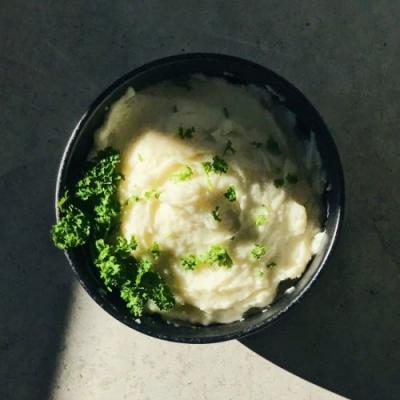 Mashed potatoes with virgin olive