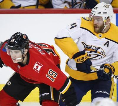 Rinaldo gets winner as Predators come out on top in battle with Flames