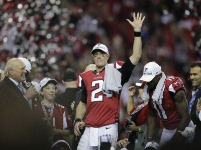 Falcons get back to work after earning trip to Super Bowl
