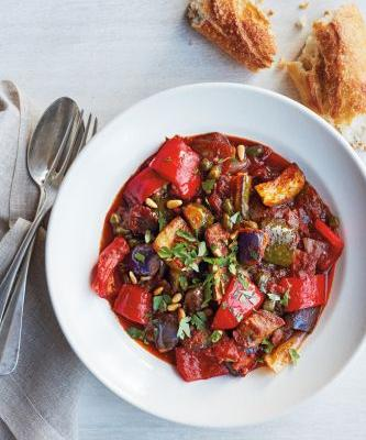 Slow-Cooker Ratatouille with Balsamic and Pine Nuts