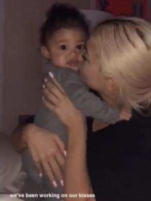 "This Video Of Kylie Jenner & Stormi Wesbter ""Working On Our Kisses"" Is Too Cute"